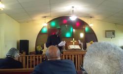 Wactor Temple AMEZ Pastor's report being read