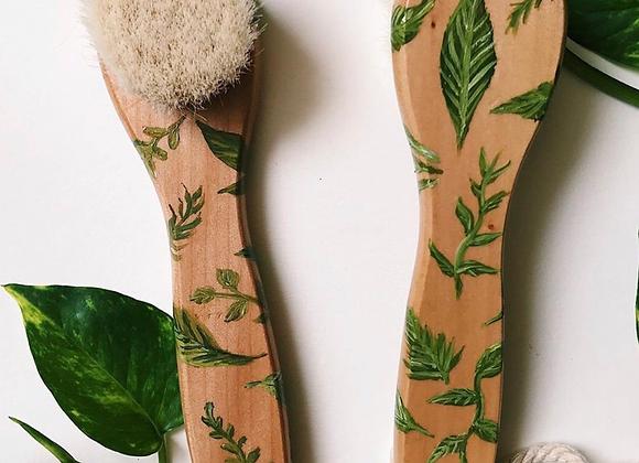 Floresta 🌳 Escova facial BIO madeira reciclada e cerdas de 100%algodao