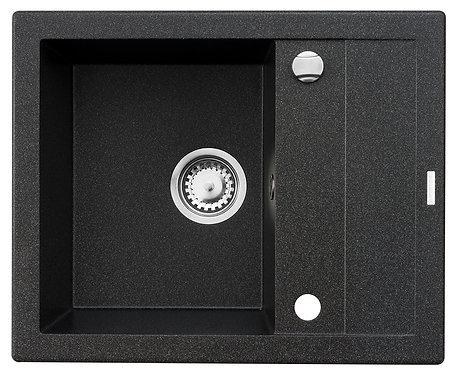 Zlewozmywak granitowy STUDIO 59x48 Czarny PYRAMIS