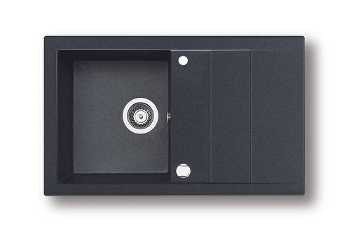 Zlewozmywak granitowy STUDIO 78x48 Czarny PYRAMIS
