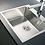 Thumbnail: Zlewozmywak stalowy Istros 40x40 szczotkowany PYRAMIS