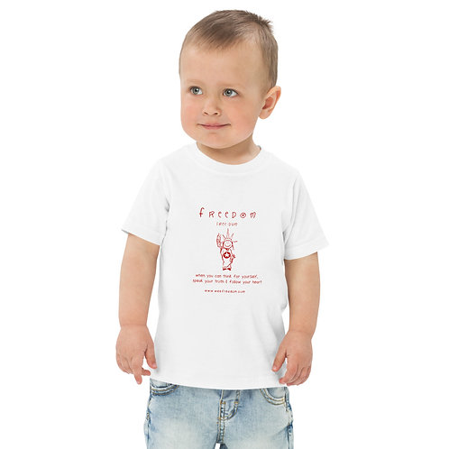 Toddler 'Freedom' T in Red
