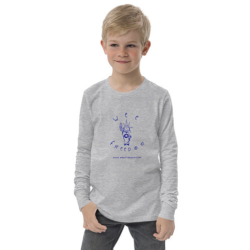 Youth 'Wee Freedom' Long Sleeve T in Blue