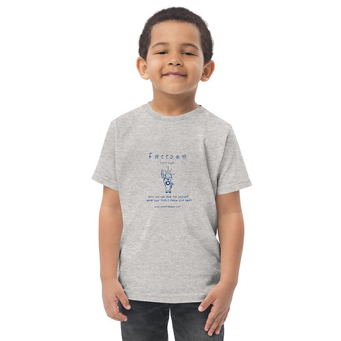Toddler 'Freedom' T in blue