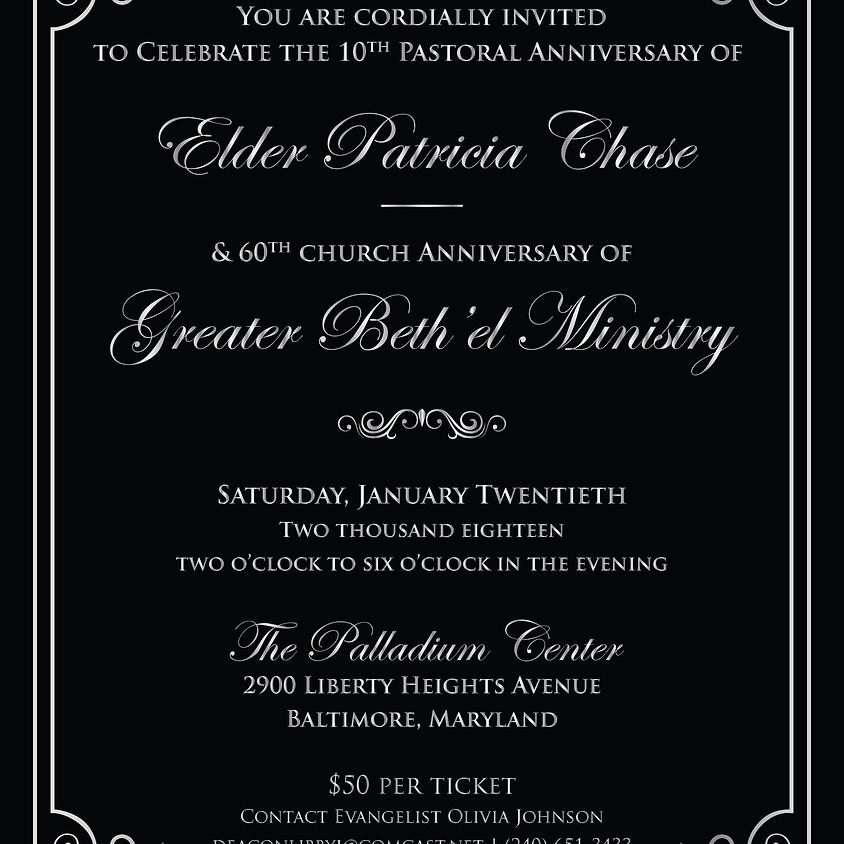 Greater Beth'el Ministry 60th Church & 10th Pastoral Anniversary