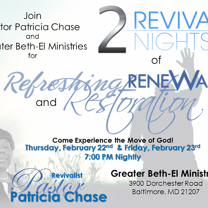 Refreshing Renewal & Restoration 2-Night Revival