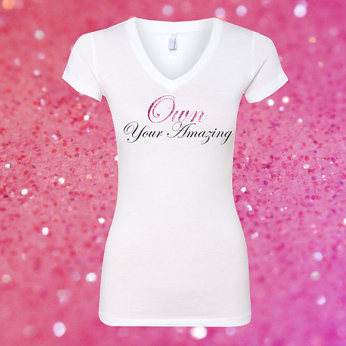 Own Your Amazing Glitter Tee