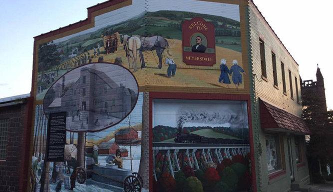 Mural in Meyersdale