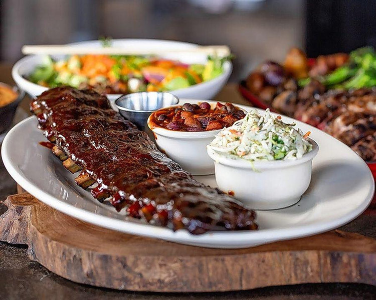 Plate of Ribs at a Local Restaurant