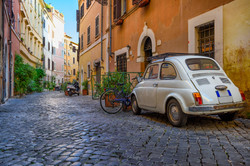 Cozy old street in Trastevere in Rome, I