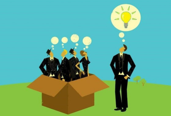 Thinking outside the box. Aka Creative thinking