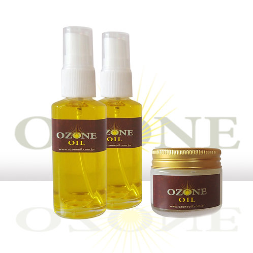 2 Ozone Oil Girassol 30 ml e 1 Ozone Oil Coco 30 ml
