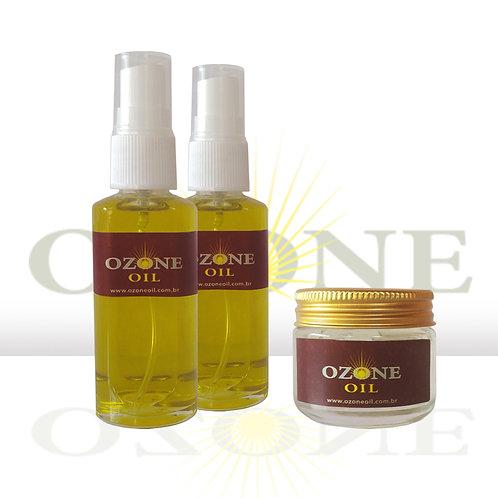 2 Ozone Oil Oliva 30 ml e 1 Ozone Oil Oliva Gel 30 ml