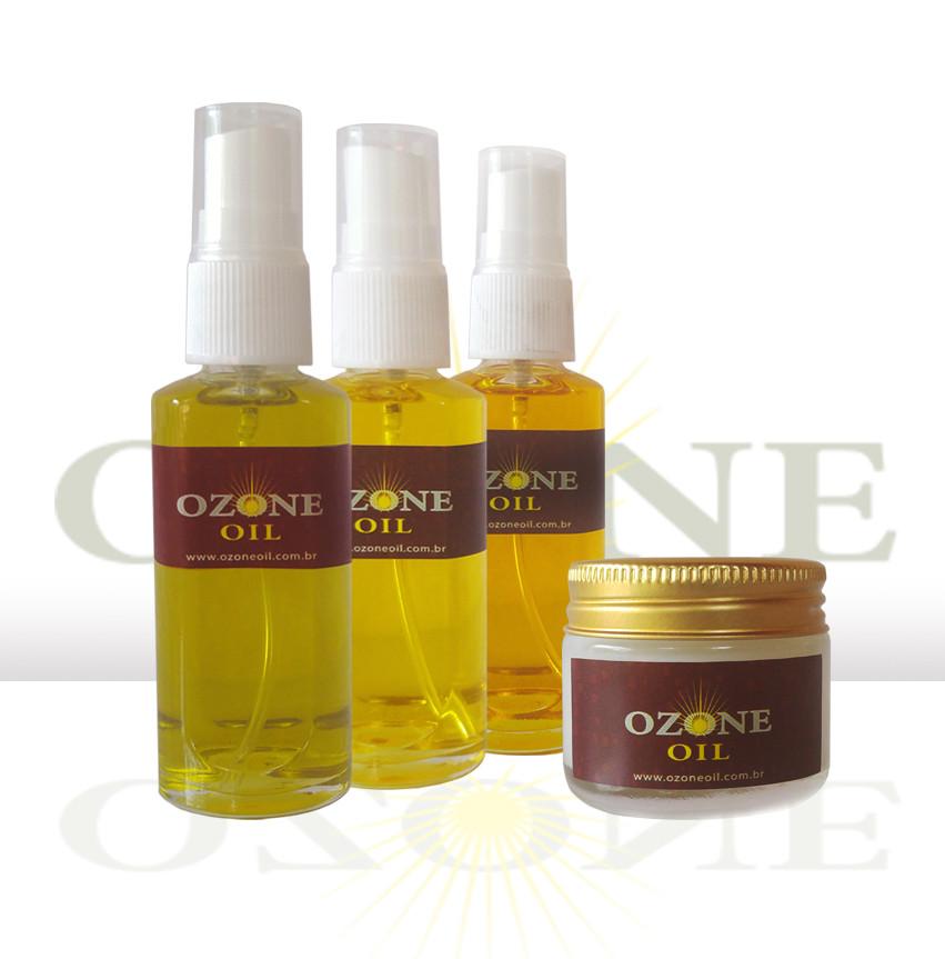 1 Ozone Oil Oliva-1 Ozone Oil Girassol-1 Ozone Oil Linhaça-1 Ozone Oil Coco