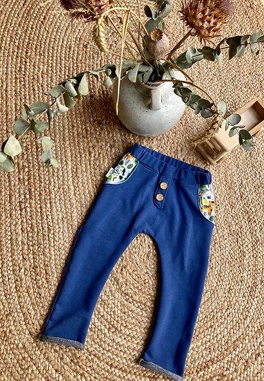 Sweat-Hose mit Taschen und Knopfleiste