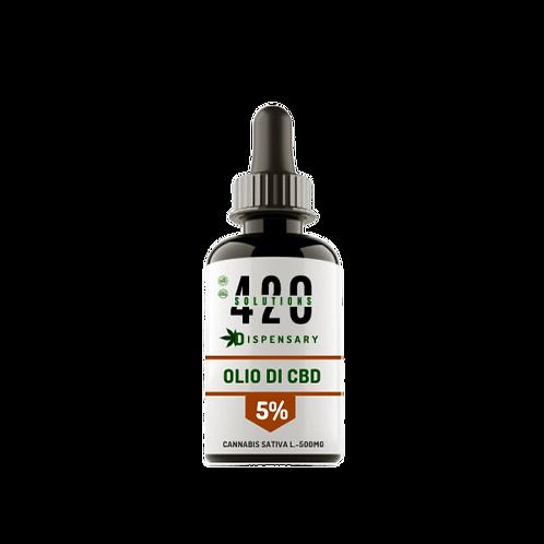 OLIO DI CBD 5% (500MG) 10ML