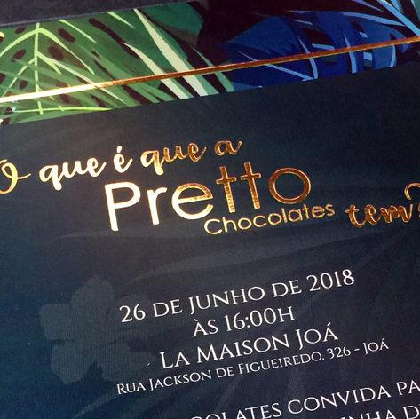 Lançamento nova linha Pretto Chocolates