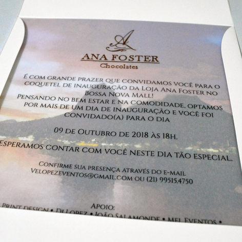 Inauguração loja Ana Foster Chocolates
