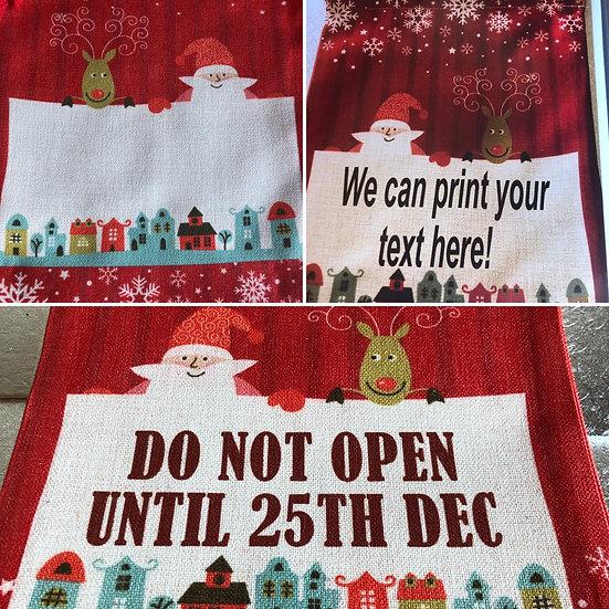Large Christmas sack 55 x 66 cm. £13