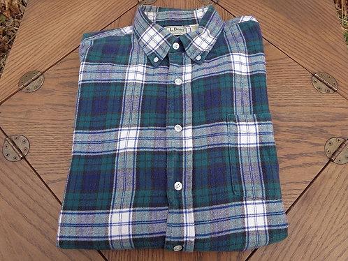 LL Bean Dress Gordon tartan cotton flannel shirt