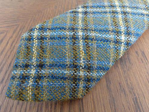 Vintage wool plaid tie