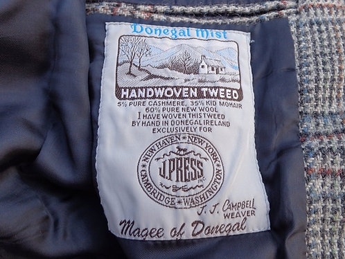 """GRAIL! Vintage J. Press """"Donegal Mist"""" 3/2 Sack Tweed in Bold Glen Plaid."""