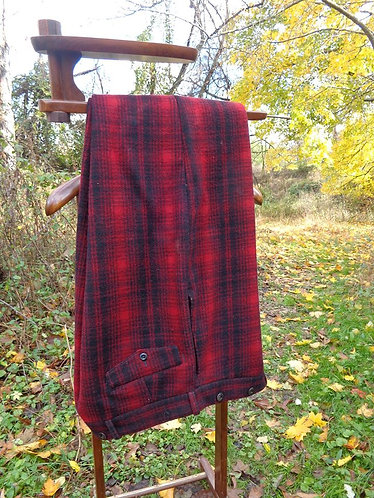 Vintage Woolrich Hunting Trousers in Classic Buffalo Plaid