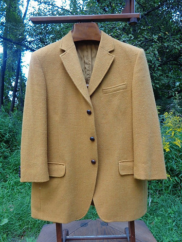 Solid Mustard Harris Tweed Jacket. Made in England for Archie Brown Ltd.,