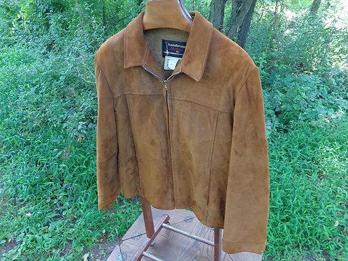 Vintage 1960s suede collegiate jacket by Ralph Edwards Sportswear