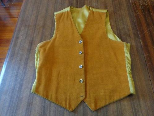 "Vintage Reversible Vest--with detachable ""cufflinks"" fasteners!"