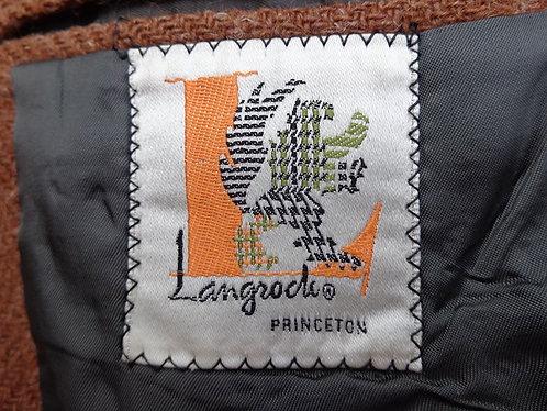 Vintage Langrock 3/2 sack in Rust-bracken tweed
