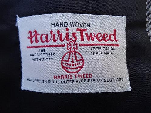 Classic Grey Herringbone Harris Tweed