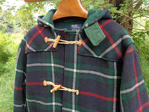 STUNNING Plaid Duffle Coat by Polo Ralph Lauren.