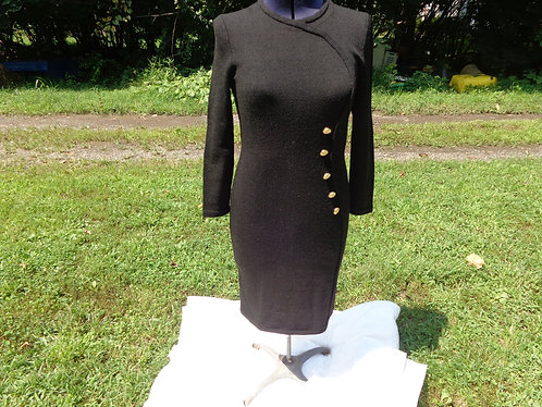 Barbara Koto Black Knit Dress
