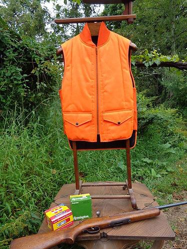 "Vintage ""Refrigiwear"" Hunting Vest in Blaze Orange"