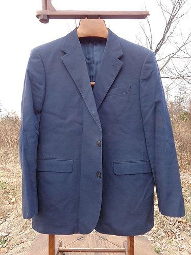 J. Press 3/2 Sack Suit in Navy Cotton Poplin