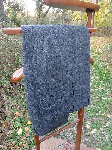 Woolrich Dark Grey Herringbone Trousers