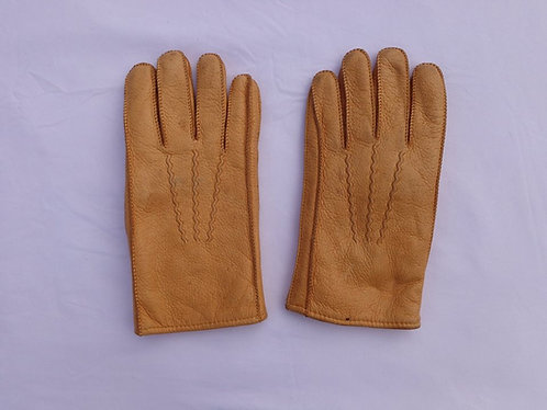 Elegant and very warm vintage leather gloves