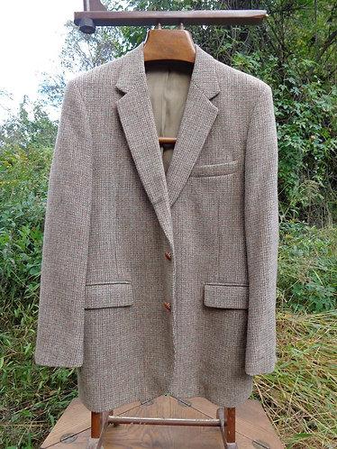CLASSIC Harris Tweed jacket in bracken and slate-grey basketweave