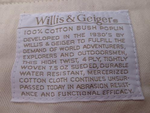 Willis and Geiger Bush Poplin khakis.