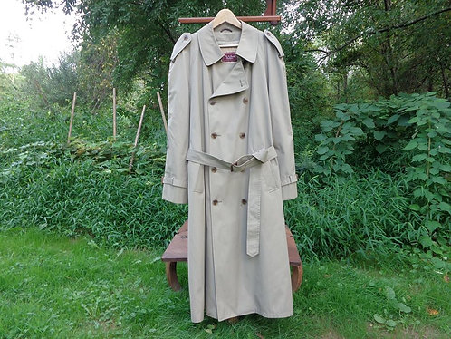 VINTAGE Jos. A. Banks Trenchcoat--with zip-in wool lining!