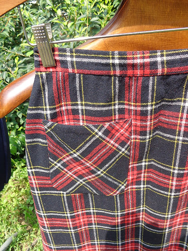 Classic of Boston Plaid Wool Skirt