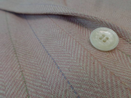Herringbone Jacket in Pale Pink by Oakloom Clothes