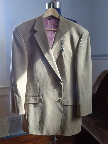 Alan Flusser Silk Jacket with Lilac Lining