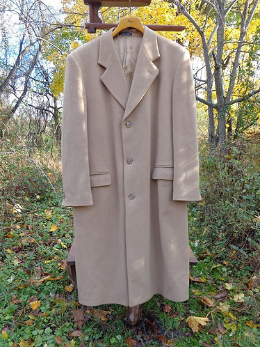 Pure Cashmere Topcoat, Made in England by Harris Whitfield & Co.
