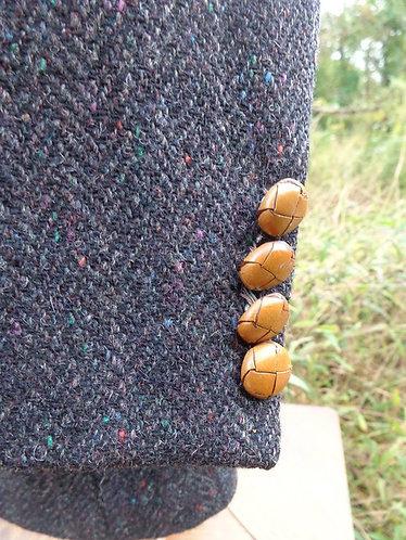 Dark Charcoal Harris Tweed