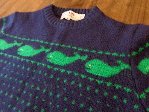 UTTERLY PREPPY Whales Shetland sweater!