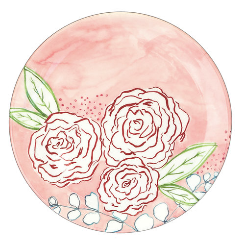 Fern&Co 4'lu Floral Collection Buyuk Tabak Seti