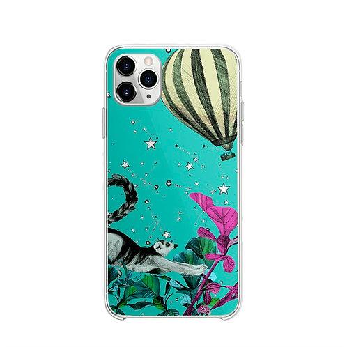 Vitelli's Wonderland Yeşil Rakun Desenli Telefon Kılıfı