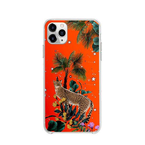 Vitelli's Wonderland Turuncu Leopar Desenli Telefon Kılıfı